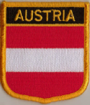 Austria Embroidered Flag Patch, style 07.